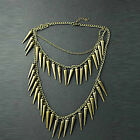New Fashion Retro 3 Layer Bullet Heavy Metal Lady Womens Necklace