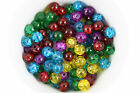 Round crackle glass beads - 4mm, 6mm or 8mm in a choice of colours
