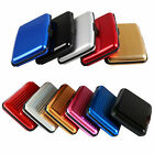 Men's Women's Aluminum ID Credit Card Case Stylish Metal Wallet Compact Holder