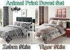 Animal Skin Print Duvet Cover with Pillow Case Poly Cotton Bed Set Double King