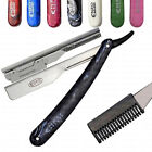 NEW SALON BARBER SHAVING + THINNING STYLING SHAPER FEATHER TYPE RAZOR AND BLADES