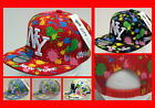 FREE UK P/P - C G NY New York Splash Paint Snapback Flat Peak Snap Back Cap Hat