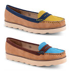 New Ladies Dolcis Slip On Moccasin Flats Deck Boat Shoes Sizes UK 3 4 5 6 7 8