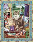 Cat Conundrum Canvas Print by Geoff Tristram Painting Picture Poster A3 A2 or A1