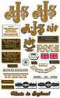 1948-50:  M20 Springtwin Export Only - DECAL SET-  AJS M20 Springtwin Decals