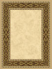 Ivory Beige European Bordered Carpet Filigree Scroll Traditional Area Rug