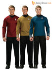 Star Trek Licensed Adult Scotty Kirk Spock Fancy Dress Costume Startrek Shirt