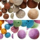 Felt Round Beads, Assorted Fuzzy Fabric Balls with Holes for Stringing PKG 25