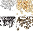 100 Crimp Tube Beads 3mm x 2mm for Terminating the end of Beading Cord & Wire
