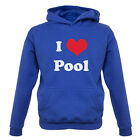 I Love Pool - Kids / Childrens Hoodie - 7 Colours XS-XXL - Billiards - Snooker