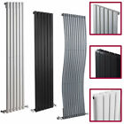 Vertical Central Heating Designer Panel Column Radiators Chrome White Black NEW