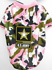 Dog US Army Pink Camouflage Doggy T-Shirt , Halloween S, M or L Dog Tee, New
