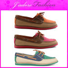NEW LADIES DOLCIS MOCCASINS  LACE UP FLAT DECK BOAT SHOES  SIZES UK 4-8