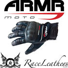 ARMR MOTO SP 16 MOTORCYCLE MOTORBIKE BIKE BREATHABLE SUMMER GLOVES WITH KNUCKLE