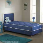 "NEW CHELSEA BLUE OPEN SPRING BED - 2FT6""SMALL, 3FT SINGLE - FAST FREE DELIVERY"