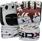 Authentic RDX Leather MMA UFC Gel Pro Grappling Gloves Fight Boxing Punch Bag C