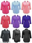 NEW SHIRT / BLOUSE, BLACK CERISE LIGHT BLUE PINK PURPLE RED - LADIES PLUS SIZE