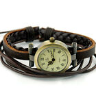 C8 US Ladies Women Wrist Watch Weave Wrap Around Leather Retro Bracelet Quartz