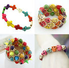 New Lot Fashion Turquoise Stone Mixed Colors More Styles Stretchy Bracelets