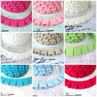 BOX PLEAT -  GATHERED TRIM FABRIC TRIM  RIBBON edging braid cotton pleated