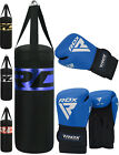 RDX 9 Piece Ladies Boxing Set 4FT Filled Punch Bag,Gloves,Bracket MMA Womens