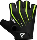 RDX Weight Lifting Gloves Training Fitness Gym Workout Yoga Green Line Cycling T
