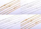Wholesale 12Pcs 24Pcs Silver/Gold Plated 1MM Nice Snake Chains Necklace 18""