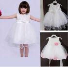 Baby Girls Newoborn Baby Christening Baptism Gown Wedding Party Dress