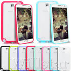 CLEAR HARD BACK TPU BUMPER COVER CASE FOR SAMSUNG GALAXY NOTE 2 N7100 FREE FILM