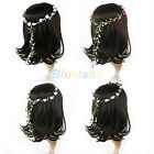 #B1 Boho Style Floral Flower Festival Wedding Garland Forehead Hair Head Band