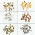 Wholesale 1000pcs Silver/Golden/Bronze/Black Filigree Flower Bead Caps 6mm 7.5mm