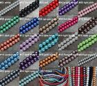 Various Colors Wholesale round glass pearl spacer beads Many Size Making Jewelry