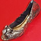 NEW Women's SIMPLY VERA JILL Snake Gold Slip on  Flats Fashion Casual  Shoes