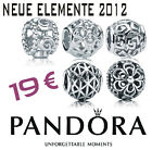 PANDORA MOMENTS SILBERELEMENT OPEN WORK FILIGRAN FLOWER RAUTE ABSTRACT ORNAMENT
