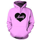 Heart Aunty - Unisex Hoodie - 9 Colours - Gift - Present - Mothers Day - Auntie