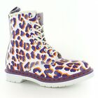 Dr Martens Womens Leather Leopard Ankle boot - white