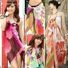 Hot Sexy Chiffon Wrap Pareo Dress Sarong Beach Bikini Swimwear Cover Up Scarf