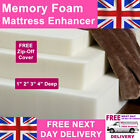 """Mattress Enhancer Topper Memory Foam 1"""" 2"""" 3"""" 4"""" FREE COVER + NEXT DAY DELIVERY"""