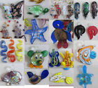 Wholesale 15PCS Novel fashion Appealing mixed color Lampwork Glass Pendants