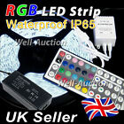 1M 2M 3M 4M 5M 5050 IP65 RGB SMD LED Strip + 44 Keys IR Remote Controller + PSU