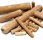 HARDWOOD MULTI GROOVE CHAMFERED WOODEN DOWELS FLUTED PIN WOOD BEECHWOOD