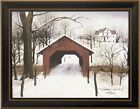 TO GRANDMOTHER'S HOUSE WE GO by Billy Jacobs FRAMED PICTURE 15x19 Covered Bridge