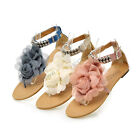 Women's Fashion Cosy Postoral Flat Heel Shoes Flower Shoes AU All Size Z067