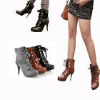 HOT New Style Women's Sexy High Heel Boots Ankle Shoes US Size 4-7.5 Y884
