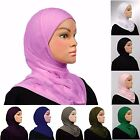 1 Piece Cotton Amira Hijab Headscarf Pullover Solid Colors