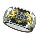 Harley-Davidson Men's Silver Bold Spirit Ring - NEW
