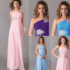 Formal womens Long chiffon evening party dress Bridesmaid cocktail wedding gown