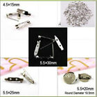 50/100pcs 15-30mm Silver Color Brooch Back Bar Pin Findings