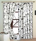 High Quality White Silver & Black Raised Flock Rose Lined Curtains. 8 Sizes.NEW!