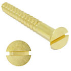 No.10, SOLID BRASS SLOTTED COUNTERSUNK WOOD SCREW, 10g GAUGE SCREWS, BS1210